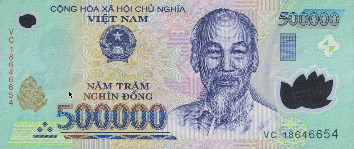 P124m Vietnam 500.000 Dong Year 2017